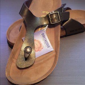 Golden Brown Birkenstock Gizeh Sandals